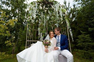 Свадьба в стиле рустик-шик Кристины и Алексея: летняя сказка