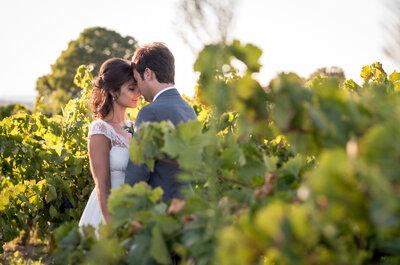 Aline et Vincent : Un mariage au coeur des vignes et une boîte à anecdotes pour les invités...