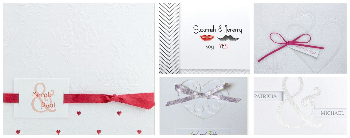 Unique and personalised wedding invitations from Best of Cards