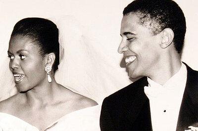 Obama cuelga su foto de boda en Facebook