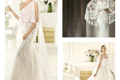 Mai più senza mantellina: il tocco da favola per il tuo abito da sposa!