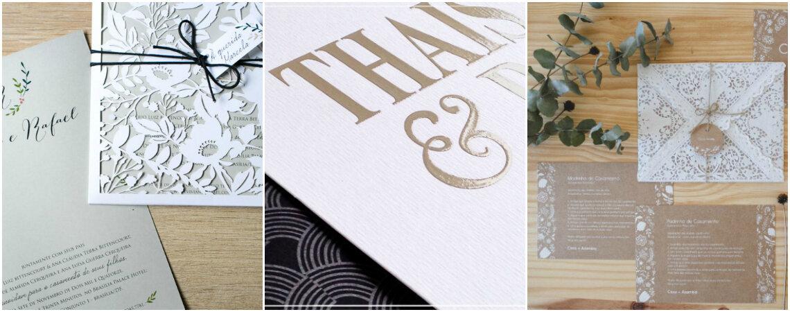 Como se faz um convite de casamento: tamanhos, papéis e tipos de Impressão!