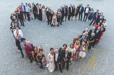 ¿Cómo conseguir que las fotografías en grupo de tu matrimonio sean un éxito?