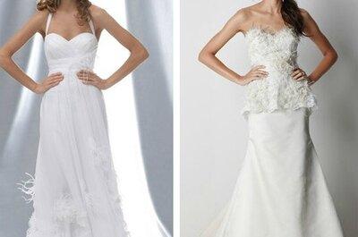 Sélection de robes de mariée à plumes