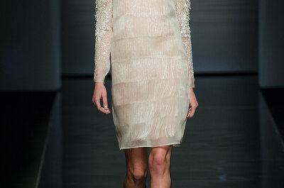 Vestidos de novia cortos Alberta Ferretti para tu boda en 2013