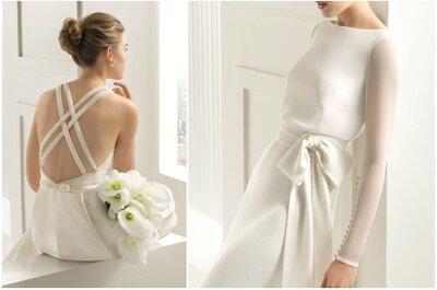 Originelle Schnitte und Muster der neuen Brautkleider-Kollektion von Rosa Clará 2015