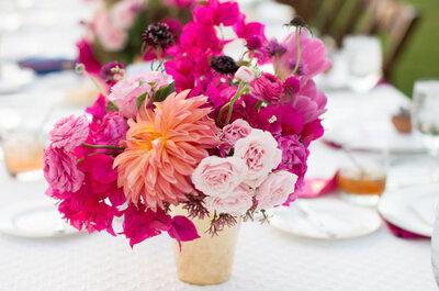 Cómo decorar tu boda con un color llamativo y romántico como el hot pink