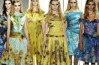 Vestidos de fiesta inspirados en Van Gogh para ir a una boda en verano