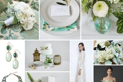 Pure Green: Reviste la decoración de tu boda con elegancia y buen gusto gracias al color verde