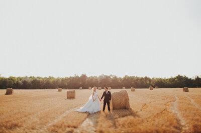 Fotografías de boda con paisajes que te sorprenderán