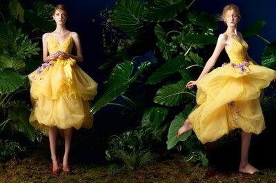 Barwne sukienki na wesele z kolekcji Yolan Cris 2014