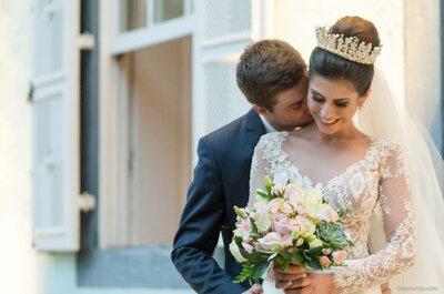 Casamento de conto de fadas na fazenda de Elisa & Fabrício: beleza monumental ao ar livre!