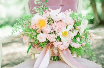 Pretty in Pink: El epítome de la belleza será el color rosa en tu boda... ¡No podrás creer la belleza del ramo de novia!