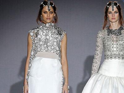 Vestidos de novia con toques en plateado 2016. ¡Apuesta por esta tendencia!