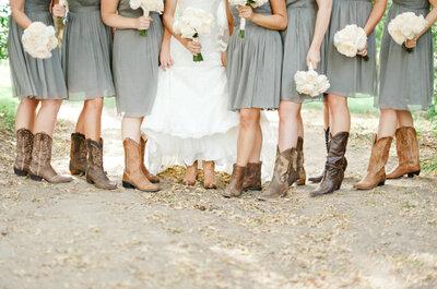 Inspiración rústica para tu boda en el campo