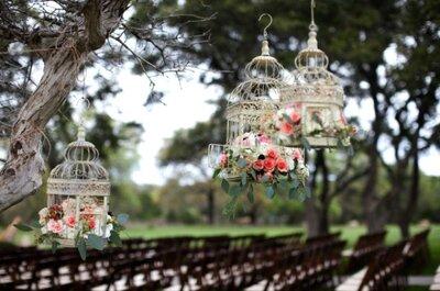 Las jaulas, lo mejor en decoración para una boda vintage espectacular