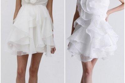 Nuestra selección de vestidos de novia cortos para boda civil