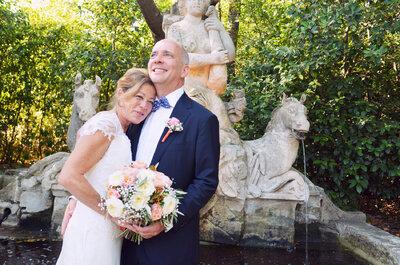 Le mariage vintage de Martin et Susan dans le sud de la France