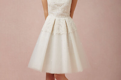 Románticos vestidos de novia 2014 de BHLDN