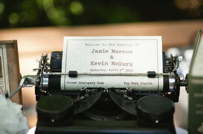Intieme romantiek op een bruiloft in het huis van Ernest Hemingway