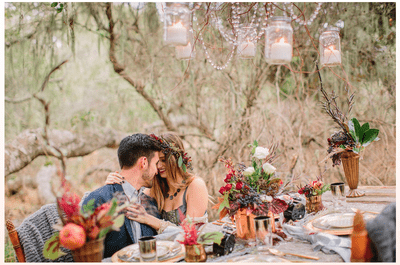 Can you get romantic in the cold weather? This inspired couple did...