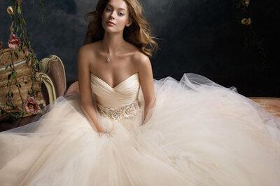 Tule aparente no vestido de noiva: look romântico e atemporal