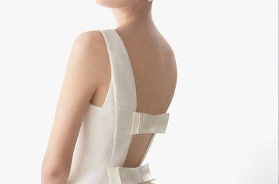 12 sensuales vestidos de novia con la espalda al descubierto