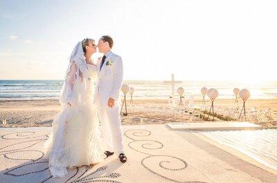 Real Wedding: Encanto en color blanco, así fue la boda de Almudena y Enrique en Acapulco... ¡La amarás!