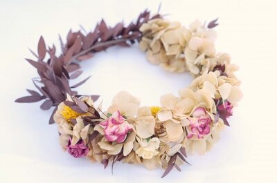 Bloemen kransen voor de 2016 bruiden: Romantisch & ideaal!