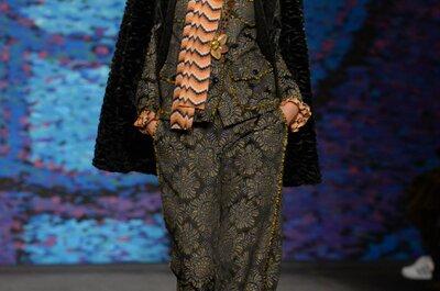 Anna Sui otoño 2015: Princesas vikingas con vestidos de fiesta folklóricos... ¡Un espectáculo de estampados!