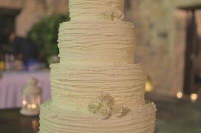 O bolo de casamento: uma das estrelas da festa!