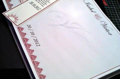 Elegantes libros de dedicatorias para la boda
