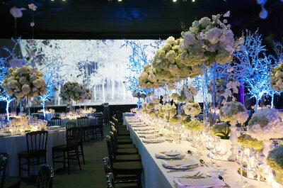 Tendencia total white para decorar tu matrimonio. ¡Sensación de calma, alegría y paz!