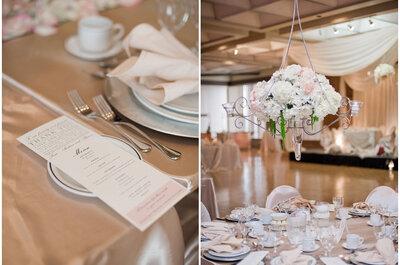 Prachtige bloemenstukken op de tafels die uw gasten versteld doen staan!