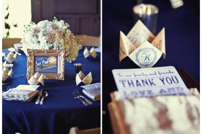 #MartesDeBodas: Una boda clásica y elegante decorada con azul marino