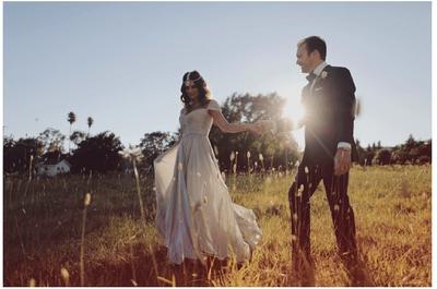 Real Wedding: La novia vestida de Reem Acra y un entorno cargado de estilo