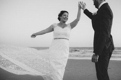 ¿Cómo elegir el vestido de novia si no soy modelo? 5 consejos claves