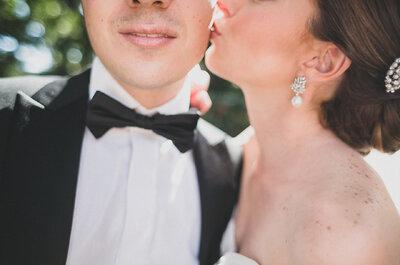 Real Wedding: La boda ultra romántica de Maite y Alfredo con acentos en color púrpura... ¡Te encantarán los zapatos!