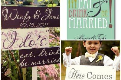 Lustige Hochzeitssprüche für Einladungen, Deko & Co
