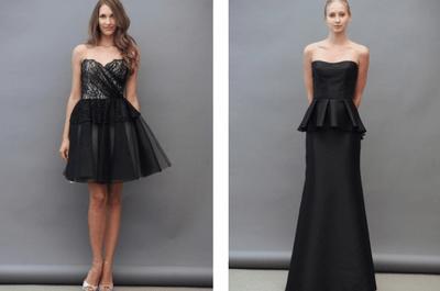 Vestidos para damas de boda en color negro