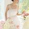 Nahezu schulterfreies Brautkleid ASTRO mit transparenten Trägern