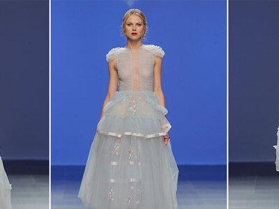 Vous aimez le bleu ? Optez pour l'une de ses sublimes robes de mariée !