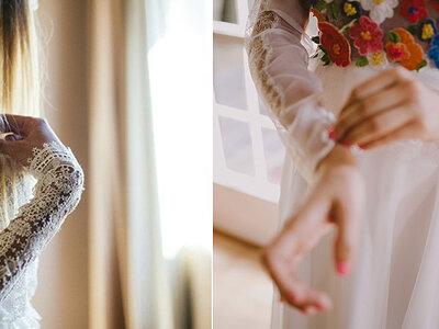 Manga larga para novias de primavera, verano, otoño e invierno