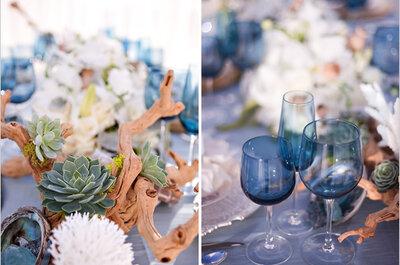 Dale color a la naturaleza: Los más hermosos montajes para una boda única en la playa