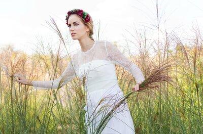 Vestidos de novia de David Christian 2015: modernidad artesanal