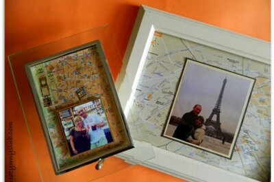 Podróż jako motyw przewodni wesela - mapy ze zdjęciami