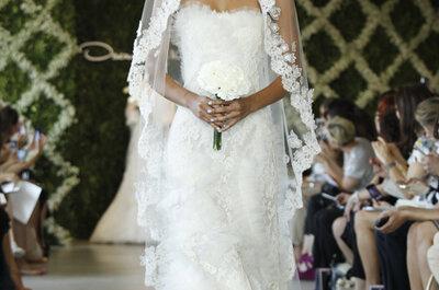 Dramatische Brautschleier von Oscar de la Renta