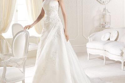 Si se trata de desbordar glamour en tu boda, estos vestidos de novia La Sposa hacen la tarea por ti