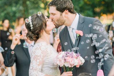 Casamento no sítio de Gabriela & Marcelo: rústico, ao ar livre e com muito romantismo no ar!
