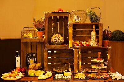 Opciones geniales para chuparte los dedos con tu catering de boda